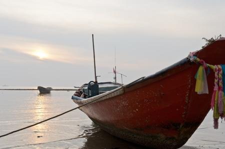 Red boat at Sattahip sea
