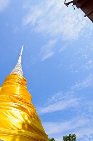 Pagoda under blue sky Stock Photo