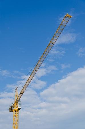 High construction area crane