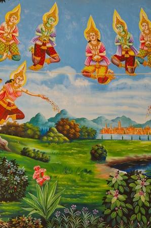 Mural of Buddha legend Stock Photo - 11327633