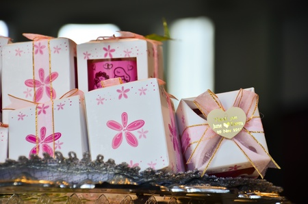 Gift boxes forcelebration of wedding