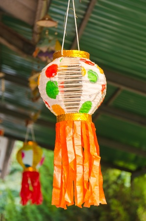 Loykrathong Festival lanterns  Stock Photo