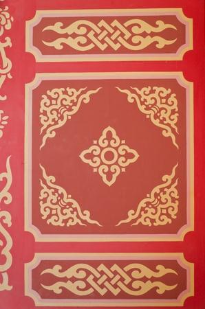 Chinese pattern wallpaper Stock Photo
