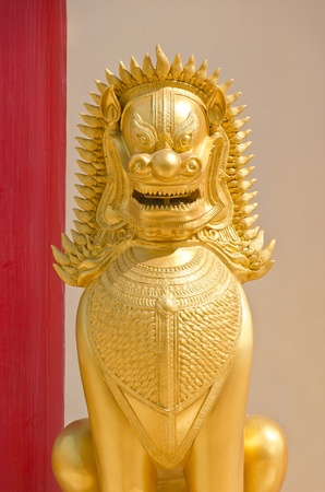 Tiger Statue of Thai style Stock Photo