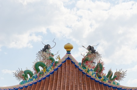china temple roof style Stock Photo