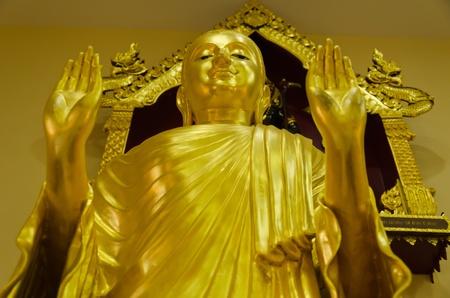 Shining buddha statue