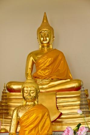 Two Buddha statue Stock Photo