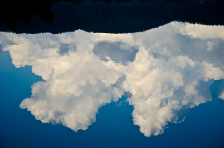 cloud mirror Stock Photo