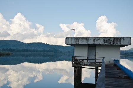 Open wide lake