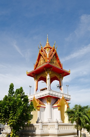 Temple bell tower Stock Photo