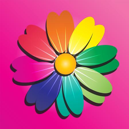Burst of 3D flower pattern