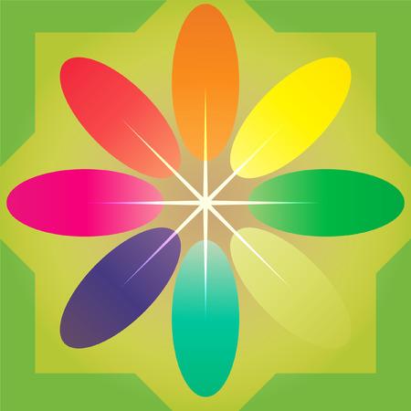 Burst of star and flower pattern Illustration