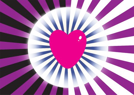 Color burst with heart   Illustration