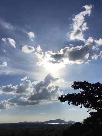 sillouette: Sunrise view at the sriracha