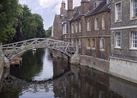 ressalto: Bridge over Cam river, Cambridge, United Kingdom
