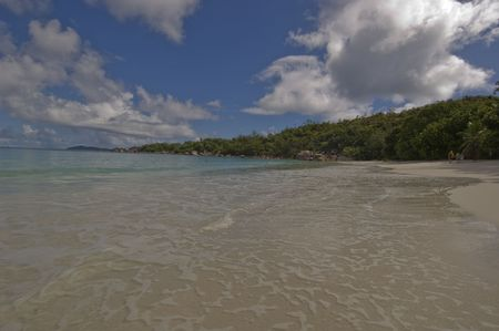 Anse Lazio is considered one of the most beautiful beaches in the world and is one of the most popular ones in the Seychelles. It has often been voted Stock Photo - 884089
