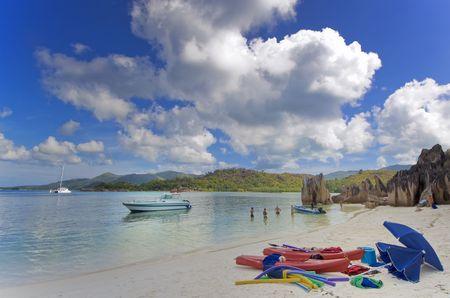 Curieuse island beach, Seychelles Stock Photo - 952881