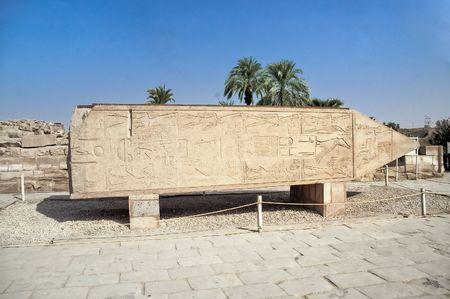 HATSHEPSUTS 2ND OBELISK  AT KARNAK TEMPLE LUXOR EGYPT photo