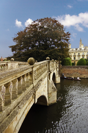 decoratiion: Oldest  bridge over Cam which has fourteen stone balls decorating it and one of  balls has a missing section-Clare College, Cambridge