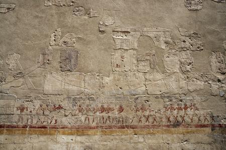punt: Expedition to Punt fresco in Mortual Temple of Hatshepsut in Deir el Bahri