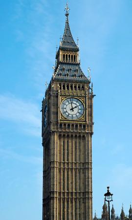 Big Ben against blue sky London England Stock Photo - 1622976
