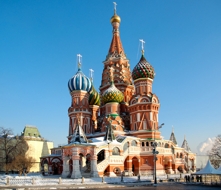 Cathedral of Vasily the Blessed on Red Square Moscow Russia Stock Photo - 1622977