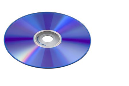 recordable: Picture of Digital Versatile Recordable Disk isolated against white background
