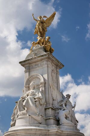 Queen Victoria Memorial  in front of Buckingham Palace, London, England