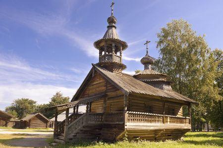 Wooden church  at Vitoslavitsy village, Novgotod region, Russia Stock Photo - 5277498