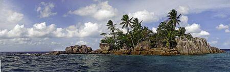 isla del tesoro: Saint-Pierre famosa isla entre los excursionistas acuáticos, Seychelles, África