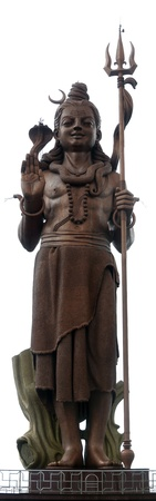mahadev: Mangal Maharev statue located near Ganga Talao lake in Mauritius island and stands 108 feet tall.  Stock Photo