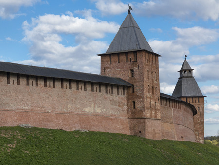 spasskaya: Knyazhayа and Spasskaya Towers in Velikiy Novgorod Detinets   Kremlin , Velikiy Novgorod, Russia