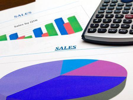 quarterly: Sales charts and calculator
