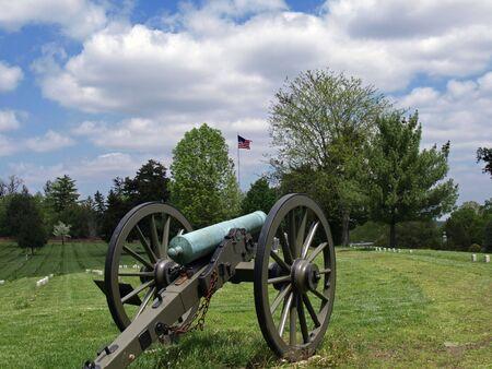va: Civil War cannon at Fredericksburg, VA National Cemetery      Stock Photo