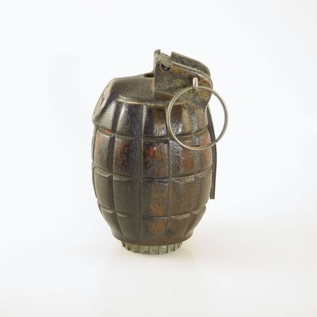 handgrenade: A World War Two era British hand grenade known as a