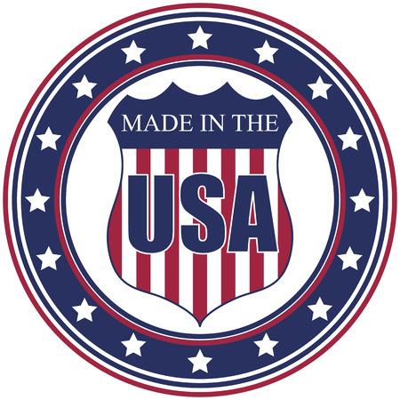 원형 미국에서 만든 벡터 데칼 또는 스탬프
