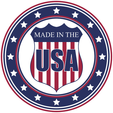 ville usa: Une circulaire dans les U.S.A. vecteur d�calcomanie ou timbre