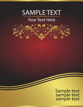 And elegant vector background perfect for wedding or corporate invitations, announcements or other notices.