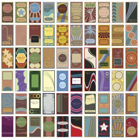 60 のレトロなビジネス カードのコレクション