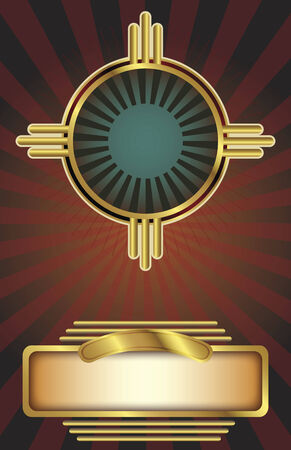 background in an Art Deco style with copy space. Perfect for posters or other printed material. Çizim