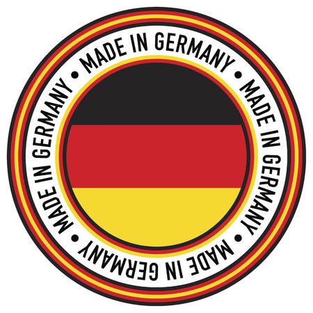 rubberstamp: Un Made in Germany gomma-timbro come decalcomania circolare. Vettoriali