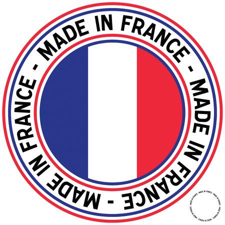 rubberstamp: Made in France gomma-timbro come decalcomania circolare.