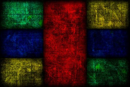 A grunge background texture with seven fibonacci boxes following the rule of thirds. Stock Photo
