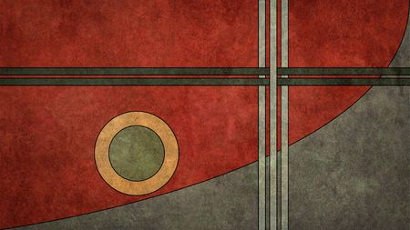 artdeco: A texturized, vintage art-deco style retro background in a 16:9 aspect ratio Stock Photo