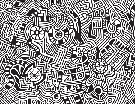 A unique, abstract, hand drawn, modern art style  Vector