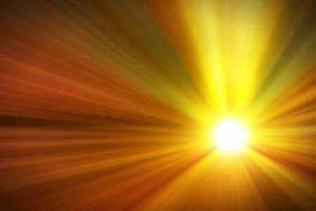 Illustration of a burning sun, or star and beautiful rays of light. Stock Illustration - 7348430