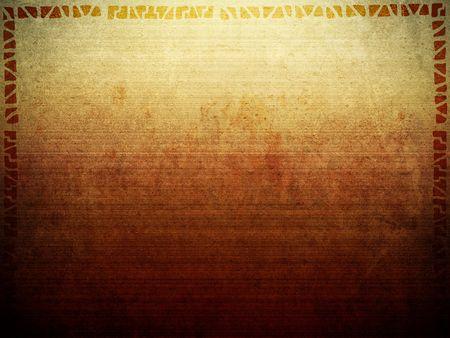 古代のアフリカの部族スタイルの枠線と背景テクスチャ イメージです。 写真素材