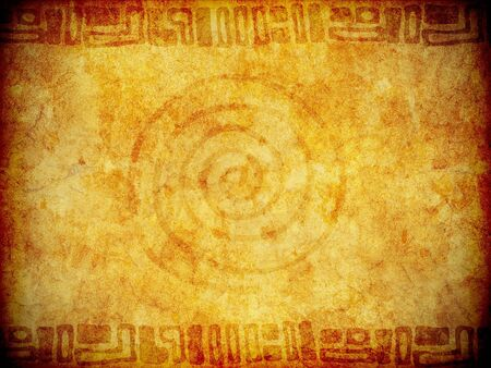 A sandstone-like background texture or wallpaper with primitive type tribal markings.