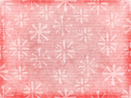 A retro style background texture or wallpaper with floral pattern in the style of 1950s shelf-paper. Imagens