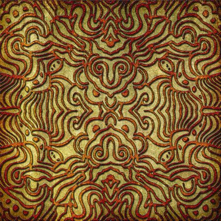 An abstract image of an intricate symmetrical pattern perfect as a background image. Stok Fotoğraf